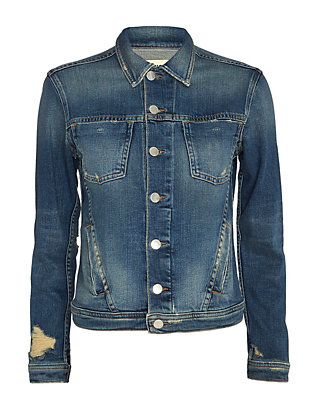 Celine Femme Distressed Denim Jacket