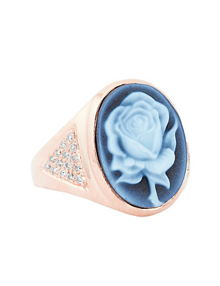 Jacquie Aiche Cameo Rose Pave Diamond Ring
