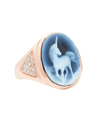 Jacquie Aiche Cameo Unicorn Pavé Diamond Ring