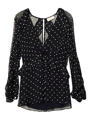 Zimmermann Adorn Polka Dot Blouse