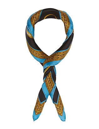 Tassel Scarf: Blue