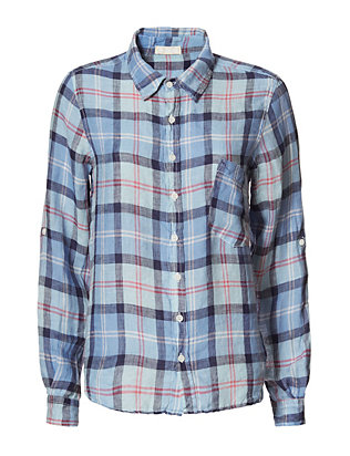 Shirt by CP Shades EXCLUSIVE Plaid Shirt: Blue