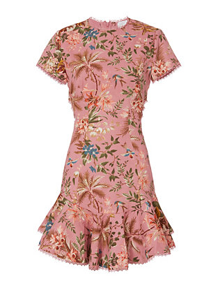Zimmermann Lattice Floral Dress