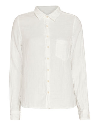 Shirt by CP Shades EXCLUSIVE Gauze Shirt: White