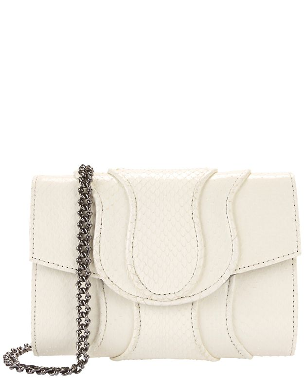Khirma Eliazov Jolie Watersnake Clutch: White