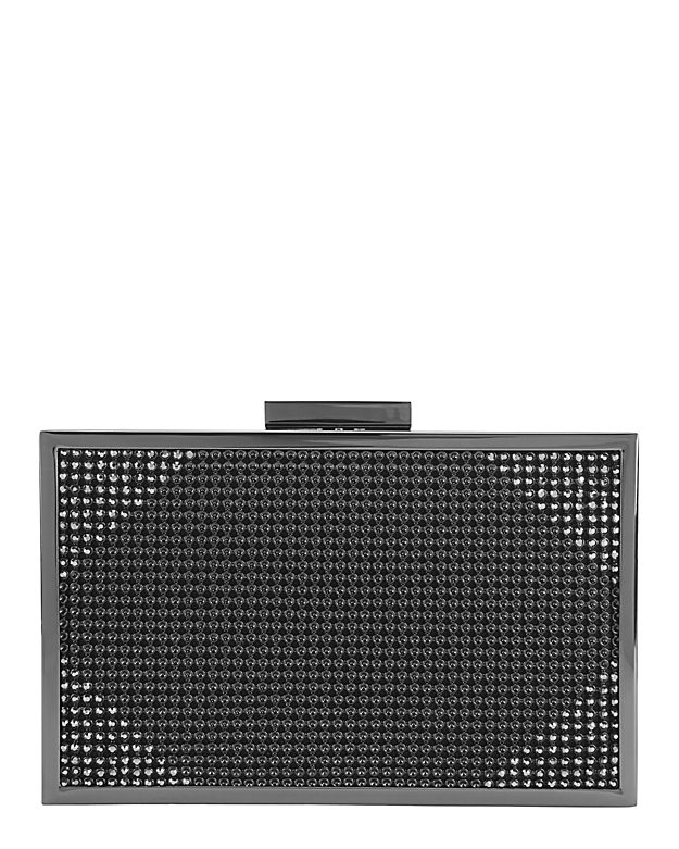Whiting & Davis Dia Mesh Cornerned Box Clutch