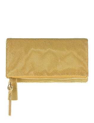 Whiting & Davis Beaded Foldover Clutch
