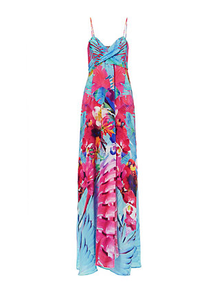 Camilla Free Tie Front Print Dress