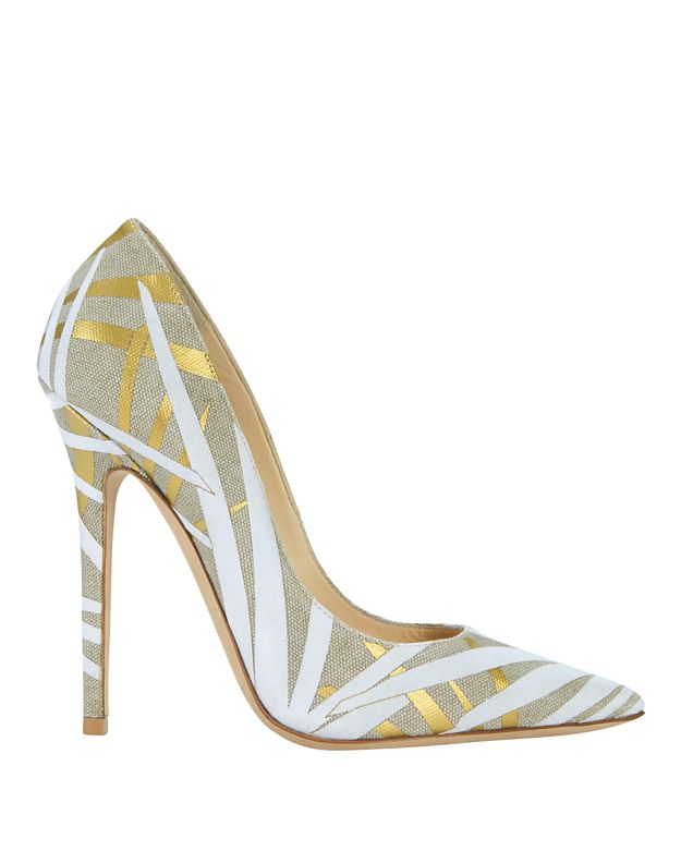 Jimmy Choo Abel Flocked Palm Print Pump