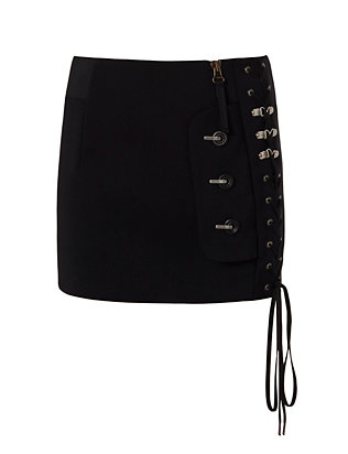 Anthony Vaccarello Lace-Up Front Skirt
