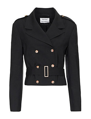 Anthony Vaccarello Cropped Officer Trench Jacket