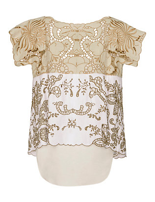 Chloe Embroidered Woven Top