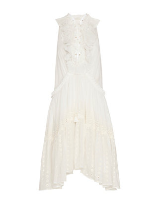 Chloe Tie-Up Ruffle Dress
