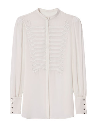 Embroidered Band Blouse