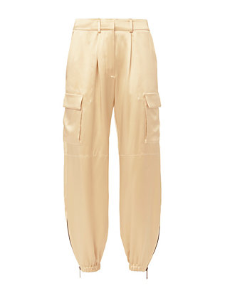 Redemption Champagne Silk Cargo Pants