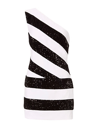 Redemption Sequin Stripe Mini Dress