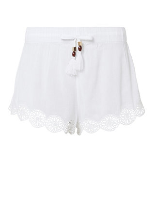 Crochet Trim Tassel Shorts