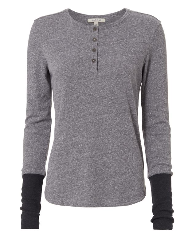 Nation LTD EXCLUSIVE Thumbhole Cuff Henley