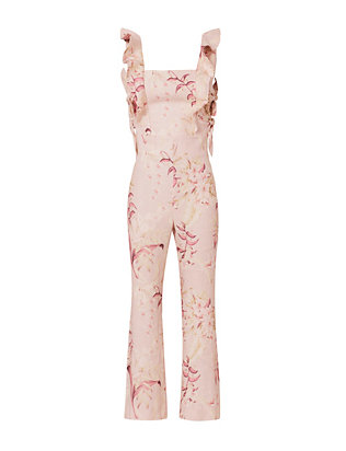 Zimmermann Floral Side Tie Jumpsuit