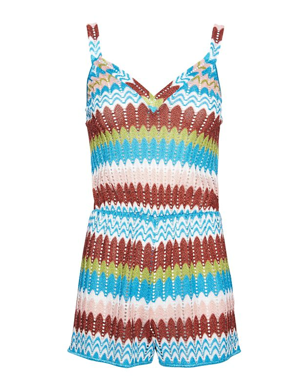Missoni Mare Lurex V Perforated Knit Romper