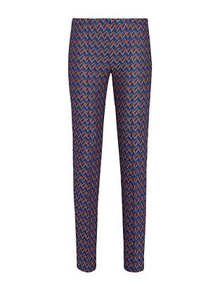 Missoni Zig Zag Knit Pant: Brown/Blue