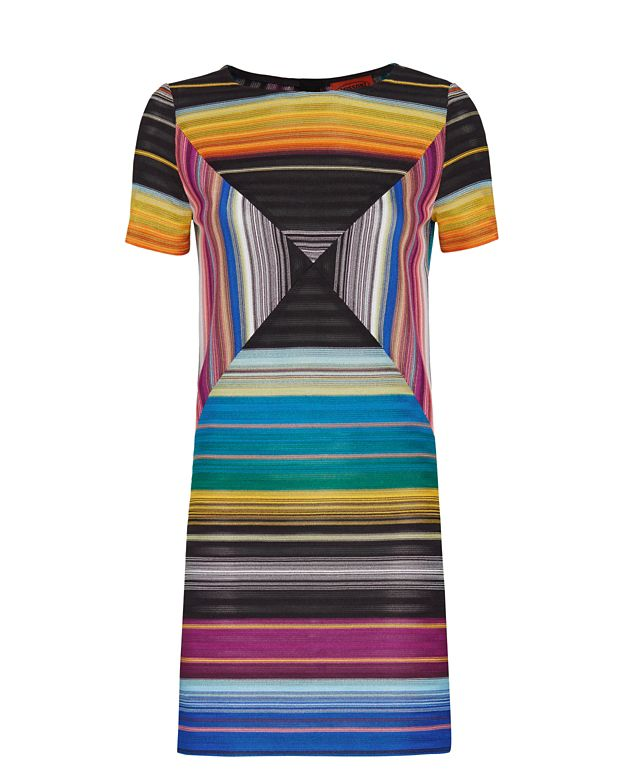 Missoni Short Sleeve Abstract Knit Shift Dress