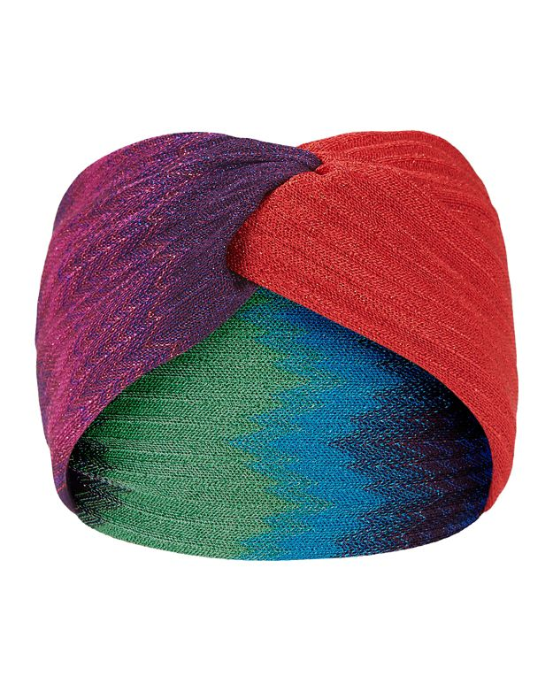 Missoni Wide Wrap Knot Lurex Knit Headband: Primary