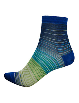Missoni Striped Lurex Socks: Blue