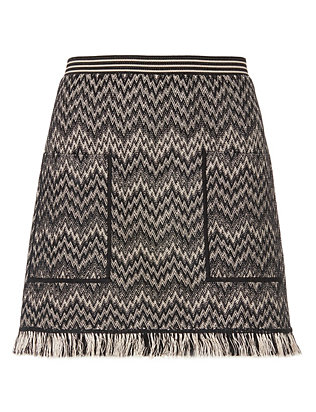 Missoni Fringe Knit Mini Skirt