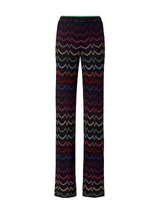 Missoni Lurex Knit Pants: Black