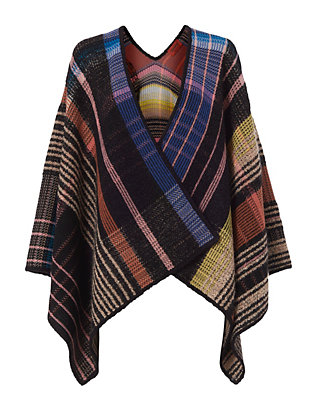 Missoni Plaid Poncho