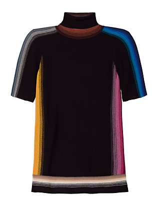 Missoni Short Sleeve Knit Turtleneck