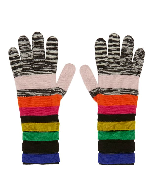 Missoni Rainbow Stripe Gloves