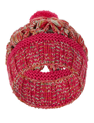 Missoni Crochet Knit Hat: Pink
