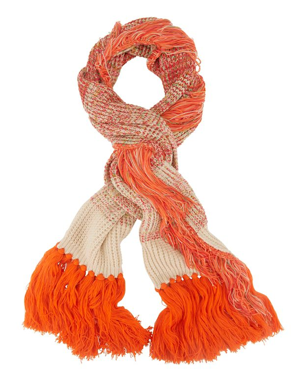 Missoni Cold Weather Fringe Scarf: Orange