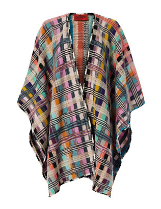 Missoni Rainbow Plaid Poncho