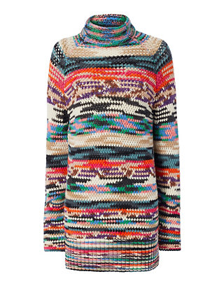 Missoni Turtleneck Tunic Rainbow Dress
