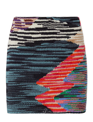 Missoni Abstract Knit Mini Skirt