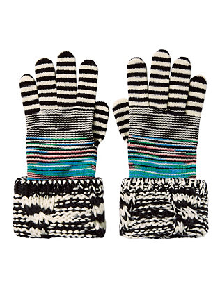 Missoni Combo Knit Gloves