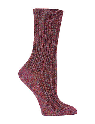 Lurex Socks: Pink