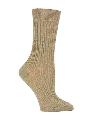 Lurex Socks: Silver