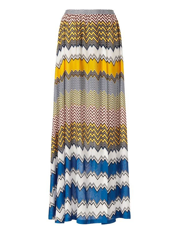 Missoni Mare Knit Slit Front Maxi Skirt