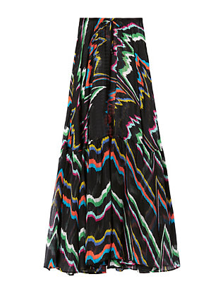 Abstract Print Maxi Skirt