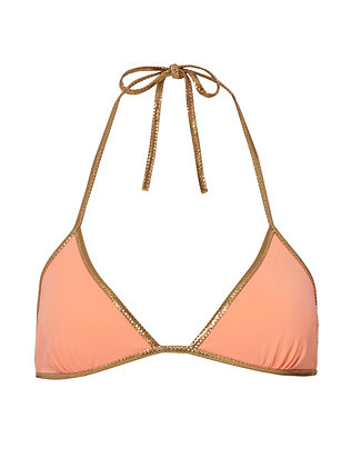 Reversible Orange Triangle Bikini Top- FINAL SALE