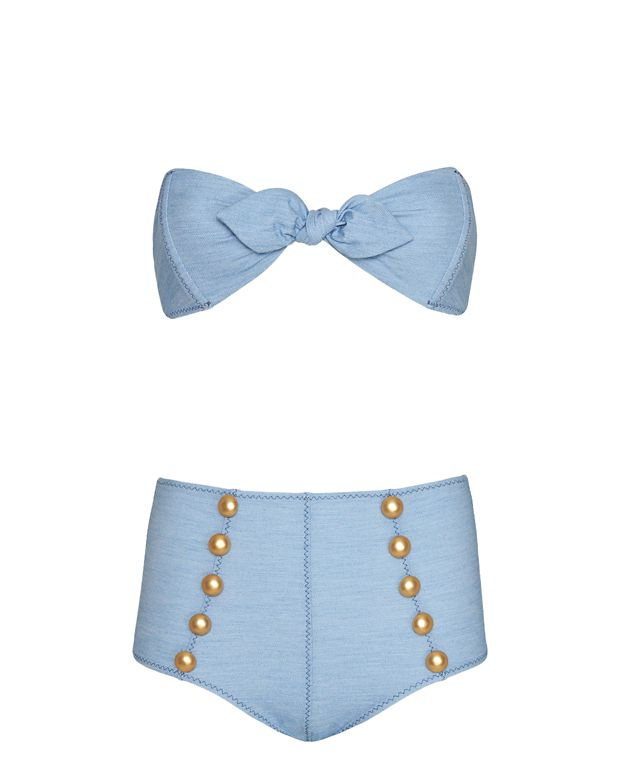 Lisa Marie Fernandez Poppy High Waist Denim Bikini