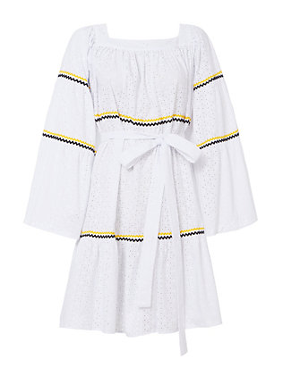 Lisa Marie Fernandez Peasant Eyelet Dress