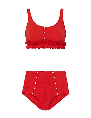 Colby Ruffle High-Waisted Bikini- FINAL SALE