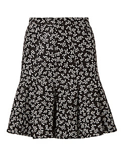Carven Lace Pattern Pleated Skirt