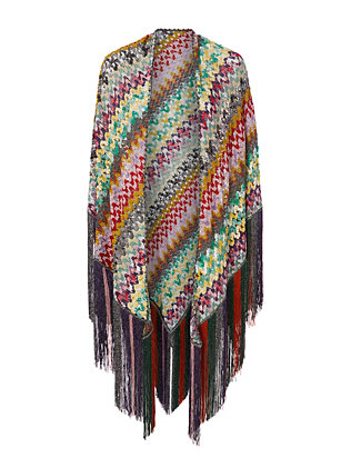 Missoni Fringe Knit Shawl