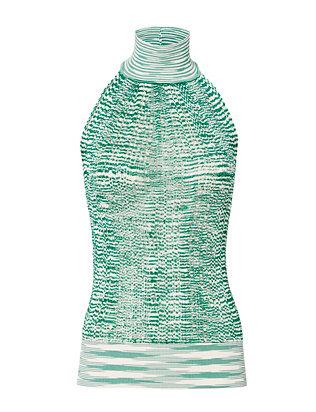 Green Knit Halter Top